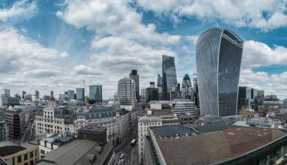 Bank district of central London panorama with famous skyscrapers - London, UK- Stock Photo or Stock Video of rcfotostock | RC-Photo-Stock