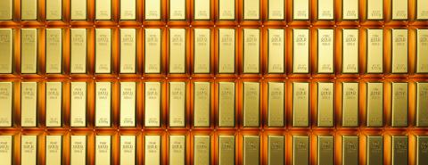 Banking and financial industry concept with gold bars in a row. banner size- Although the gold standard has passed, a declining US dollar means rising gold prices- Stock Photo or Stock Video of rcfotostock | RC-Photo-Stock