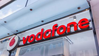 Barcelona, Spain - May 15, 2018: Vodafone sign on a building. Vodafone Group is a British telecommunications company headquartered in London and with its registered office in Newbury, Berkshire.- Stock Photo or Stock Video of rcfotostock | RC-Photo-Stock