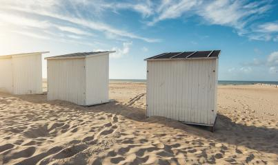 beach houses at the beach in Zeeland- Stock Photo or Stock Video of rcfotostock | RC-Photo-Stock