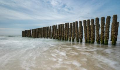 beach landscape with wave breakers in the Netherlands- Stock Photo or Stock Video of rcfotostock | RC-Photo-Stock