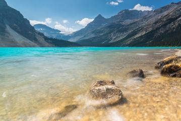 Beatiful Bow Lake in Alberta Canada at summer- Stock Photo or Stock Video of rcfotostock | RC-Photo-Stock