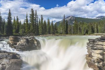 beautiful Athabaska falls at the rocky mountains in jasper canada : Stock Photo or Stock Video Download rcfotostock photos, images and assets rcfotostock | RC-Photo-Stock.: