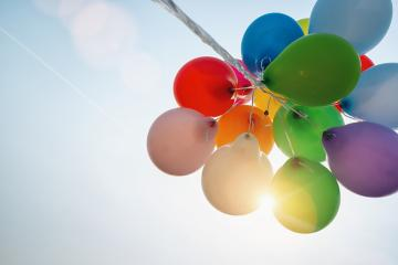 Beautiful colorful balloons against sunlight- Stock Photo or Stock Video of rcfotostock | RC-Photo-Stock