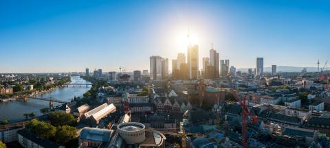 Beautiful view of Frankfurt am Main at dusk- Stock Photo or Stock Video of rcfotostock | RC-Photo-Stock