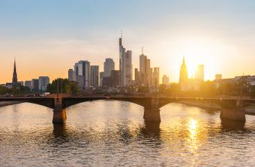 Beautiful view of Frankfurt am Main skyline at sunset, Germany- Stock Photo or Stock Video of rcfotostock | RC-Photo-Stock