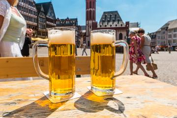 beer at summer at the Roemer place in Frankfurt, germany- Stock Photo or Stock Video of rcfotostock | RC-Photo-Stock