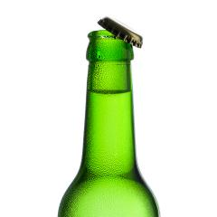Beer bottle with kron cork and drops of condensation dew party drink alcohol- Stock Photo or Stock Video of rcfotostock | RC-Photo-Stock
