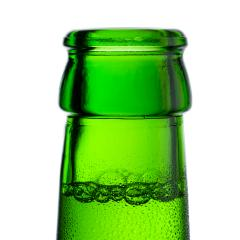Beer bottleneck with bubbles and drops of condensation dew alcohol - Stock Photo or Stock Video of rcfotostock | RC-Photo-Stock