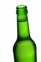 Beer bottleneck with bubbles and drops of dew alcohol - Stock Photo or Stock Video of rcfotostock | RC-Photo-Stock
