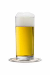 beer glass with beermat on white- Stock Photo or Stock Video of rcfotostock | RC-Photo-Stock
