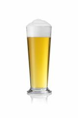 Beer glass with foam crown and dew drops condensing rod pils gold- Stock Photo or Stock Video of rcfotostock | RC-Photo-Stock