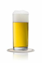 beer in a glass with beermat - Stock Photo or Stock Video of rcfotostock | RC-Photo-Stock