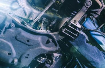 Below the car in a garage. Repair service. authentic shot- Stock Photo or Stock Video of rcfotostock | RC-Photo-Stock