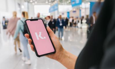 BERLIN, GERMANY AUGUST 2019: Woman hand holding iphone Xs with logo of Klarna Bank AB displayed on a smartphone.- Stock Photo or Stock Video of rcfotostock | RC-Photo-Stock