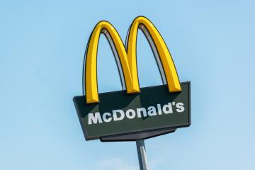 BERLIN, GERMANY JULY 2019: McDonalds logo sign. It is the world's largest chain of hamburger fast food restaurants.- Stock Photo or Stock Video of rcfotostock | RC-Photo-Stock