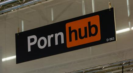 BERLIN, GERMANY JULY 2019: Pornhub logo on a trade show booth. It is a pornographic video sharing website and the largest pornography site on the Internet.- Stock Photo or Stock Video of rcfotostock | RC-Photo-Stock