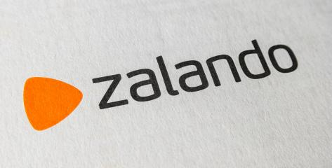 BERLIN, GERMANY OCTOBER, 2017: Zalando logo on a Box. Zalando is a German electronic commerce company seated in Berlin. They sell online shoes, clothing and other fashion items.- Stock Photo or Stock Video of rcfotostock | RC-Photo-Stock
