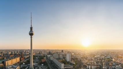 Berlin skyline Panorama Aerial view with famous TV tower at Alex : Stock Photo or Stock Video Download rcfotostock photos, images and assets rcfotostock | RC-Photo-Stock.: