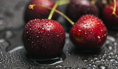 Berries of sweet cherry with drops of dew- Stock Photo or Stock Video of rcfotostock | RC-Photo-Stock