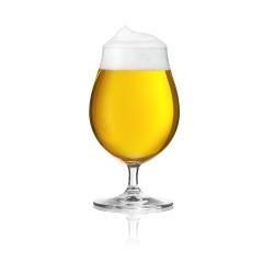 Biertulpe beer glass with beer foam and dew drops of water alcohol golden crown on a white background- Stock Photo or Stock Video of rcfotostock | RC-Photo-Stock