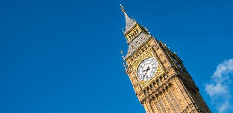 Big Ben against blue sky in London, UK- Stock Photo or Stock Video of rcfotostock | RC-Photo-Stock