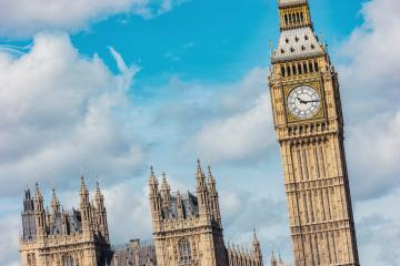 Big Ben and Houses of parliament with cloudy sky in London, UK- Stock Photo or Stock Video of rcfotostock | RC-Photo-Stock