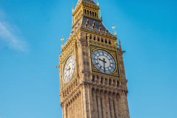 Big Ben closeup with blue sky, london, uk- Stock Photo or Stock Video of rcfotostock | RC-Photo-Stock