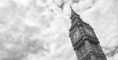 Big Ben with cloudy sky in black and white colors, london, uk- Stock Photo or Stock Video of rcfotostock | RC-Photo-Stock