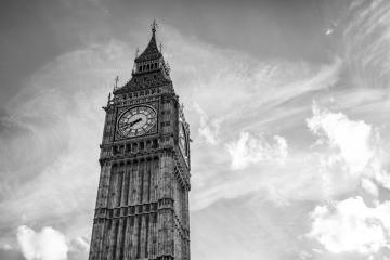 Big Ben with cloudy sky in black and white colors, london, uk : Stock Photo or Stock Video Download rcfotostock photos, images and assets rcfotostock | RC-Photo-Stock.: