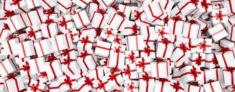 Big pile of Christmas gifts, banner size : Stock Photo or Stock Video Download rcfotostock photos, images and assets rcfotostock | RC-Photo-Stock.:
