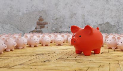 Big red piggy bank with small pink piggy banks, investment and development concept  : Stock Photo or Stock Video Download rcfotostock photos, images and assets rcfotostock | RC-Photo-Stock.: