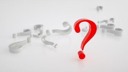 big red question mark between small question marks,  frequently asked questions concept image - 3D Rendering- Stock Photo or Stock Video of rcfotostock | RC-Photo-Stock