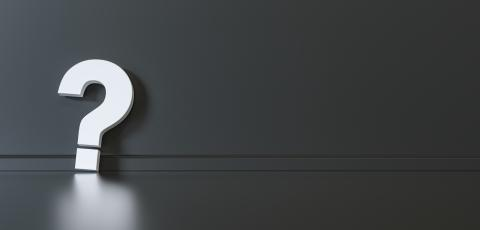 Big white question mark in front of black wall with copy space as faq concept- Stock Photo or Stock Video of rcfotostock | RC-Photo-Stock