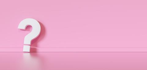 Big white question mark in front of pink wall with copy space as faq concept- Stock Photo or Stock Video of rcfotostock | RC-Photo-Stock