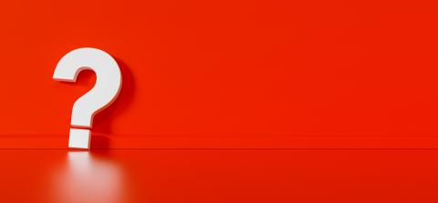 Big white question mark in front of red wall with copy space as faq concept- Stock Photo or Stock Video of rcfotostock | RC-Photo-Stock
