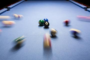 Billiard eightball spiel motion shot Billiardtisch- Stock Photo or Stock Video of rcfotostock | RC-Photo-Stock