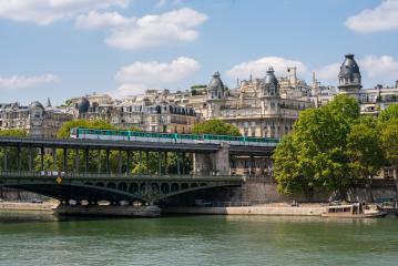 Bir-Hakeim bridge with metro train in paris, france- Stock Photo or Stock Video of rcfotostock | RC-Photo-Stock