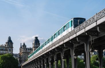 Bir-Hakeim bridge with metro train in paris, france- Stock Photo or Stock Video of rcfotostock | RC-Photo-Stock