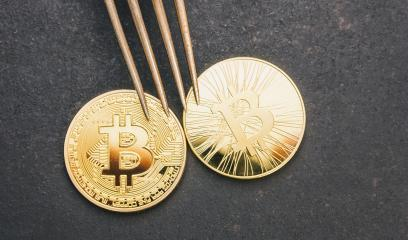 bitcoin and Bitcoin-cash Hard Fork, golden Crytocurrency coins : Stock Photo or Stock Video Download rcfotostock photos, images and assets rcfotostock | RC-Photo-Stock.: