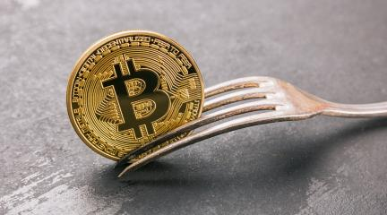 bitcoin (BTC) Hard Fork, golden cryptocurrency concept image- Stock Photo or Stock Video of rcfotostock | RC-Photo-Stock