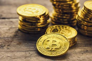 Bitcoin Classic - Stacked - bitcoin Hype concept image- Stock Photo or Stock Video of rcfotostock | RC-Photo-Stock