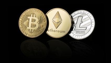 Bitcoin, Ethereum, Litecoin cryptocurrency, digital money- Stock Photo or Stock Video of rcfotostock | RC-Photo-Stock