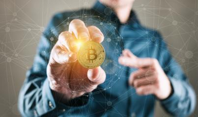 Bitcoin Trader - Trading Bitcoin Cryptocurrency Conceptual Finance Concept : Stock Photo or Stock Video Download rcfotostock photos, images and assets rcfotostock | RC-Photo-Stock.: