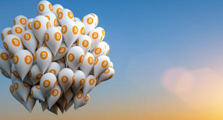 Bitcoin with balloons : Stock Photo or Stock Video Download rcfotostock photos, images and assets rcfotostock | RC-Photo-Stock.: