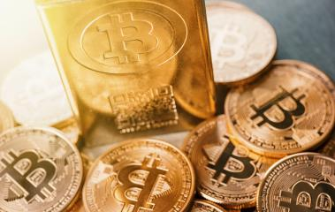 Bitcoins - new digital cryptocurrency- Stock Photo or Stock Video of rcfotostock | RC-Photo-Stock