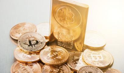 Bitcoins physical cryptocurrency coins- Stock Photo or Stock Video of rcfotostock | RC-Photo-Stock