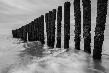 black and white breakwater at the baltic sea- Stock Photo or Stock Video of rcfotostock | RC-Photo-Stock