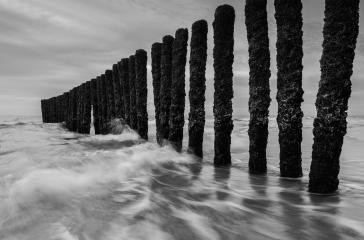 black and white breakwater at the north sea- Stock Photo or Stock Video of rcfotostock   RC-Photo-Stock