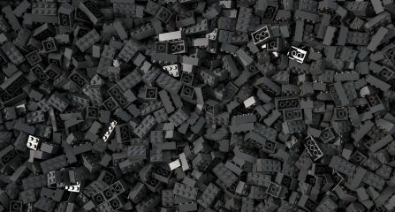 black toy bricks background - concept image - 3D Rendering Illustration- Stock Photo or Stock Video of rcfotostock | RC-Photo-Stock